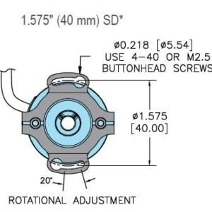 Encoder Accucoder Modelo 15T-14SD-2500-C5RHV-F03